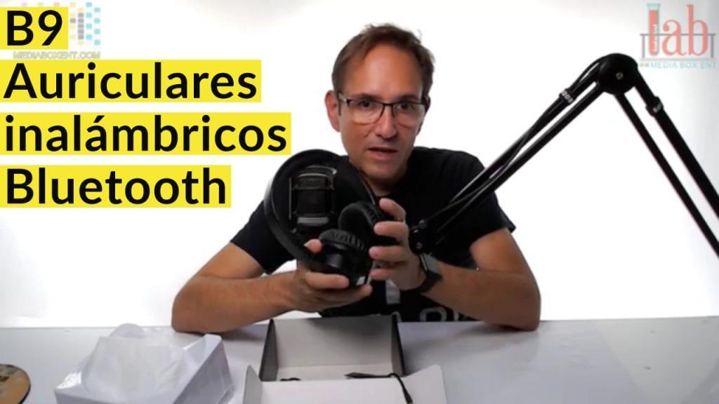 B9 Auriculares inalámbricos Bluetooth con micrófono 40H Playtime Auriculares inalámbricos sobre la oreja Auriculares plegables de graves profundos para TV PC Tablet Celular - Negro para hombres