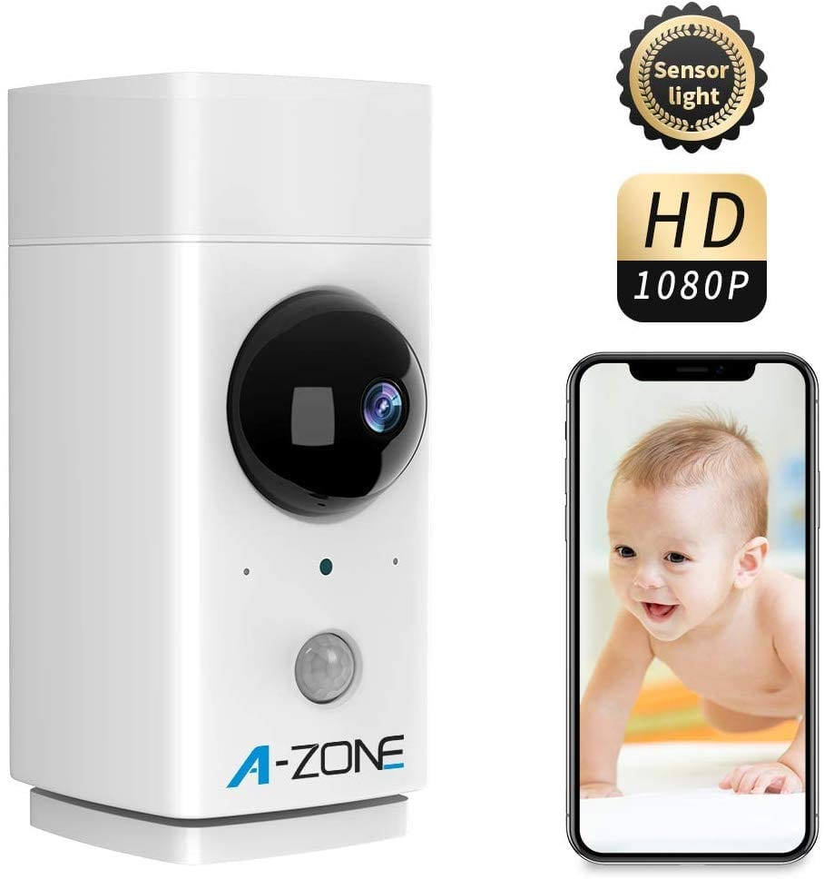 Baby Monitor with Camera and Audio, 1080P HD Indoor Wireless Smart Home Camera with Seneor Light 2-Way Audio Person Detection, Night