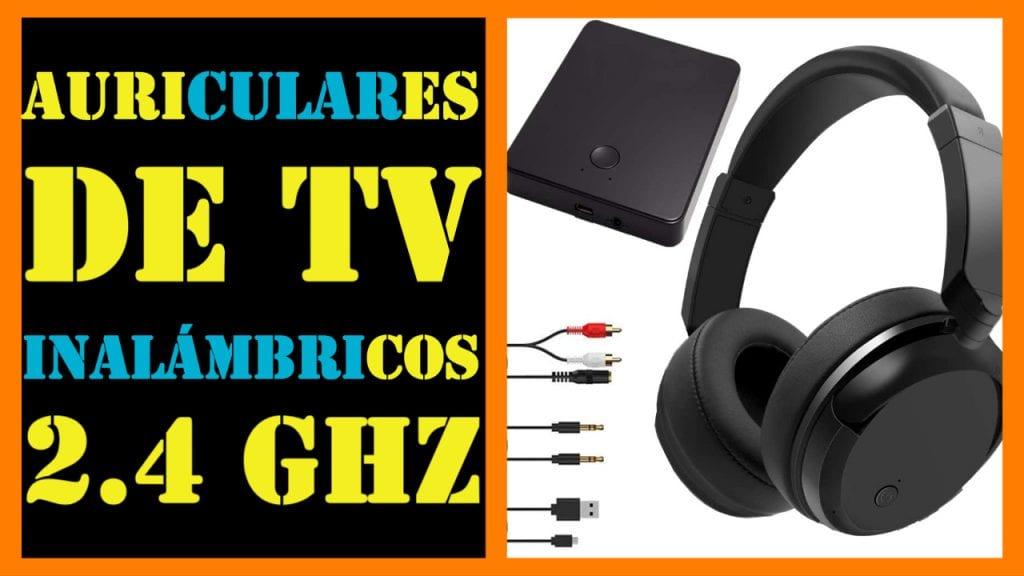 Auriculares de TV inalámbricos, 2.4 GHz