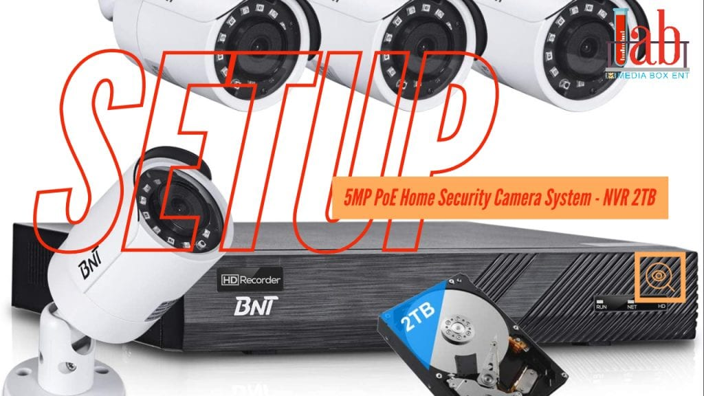 BNT 8CH 5MP PoE Home Security