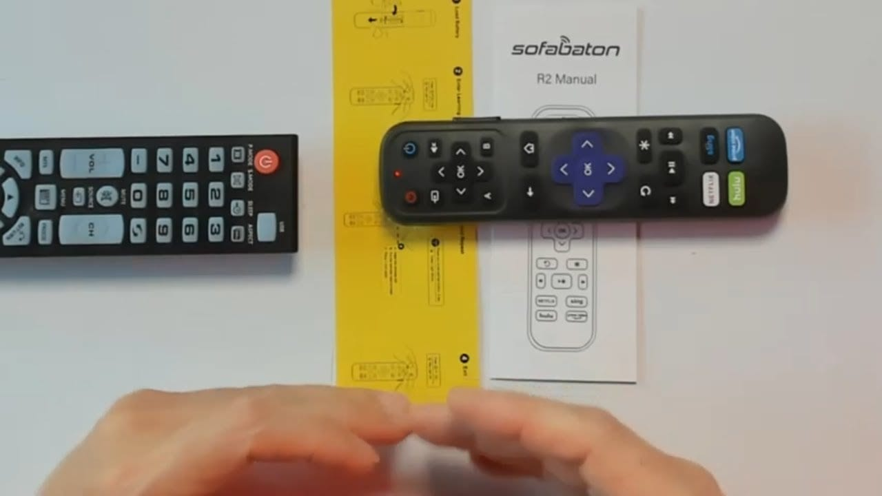 Universal IR Remote Replacement for Roku Streaming Player with 13 Extra Learning