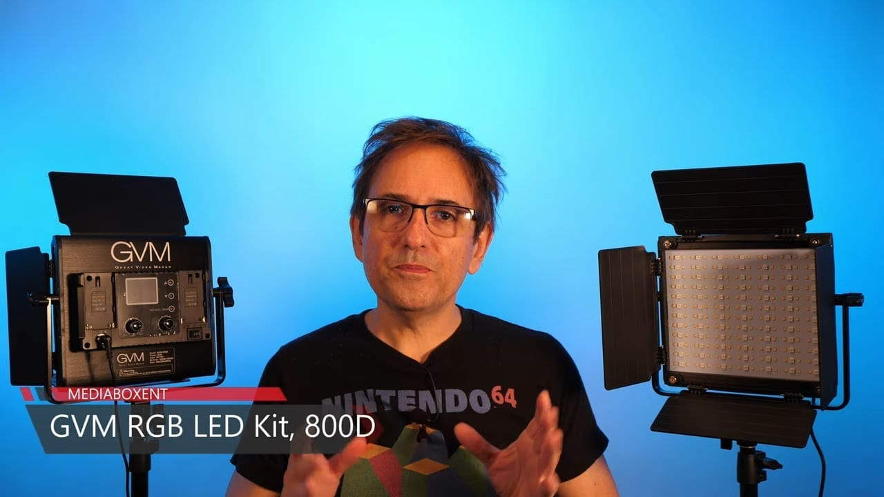 Kit de iluminación de video LED GVM RGB 800D