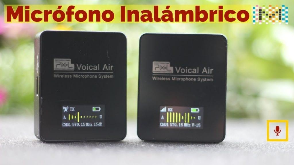Micrófono inalámbrico PIXEL: transmisor y receptor de sistema