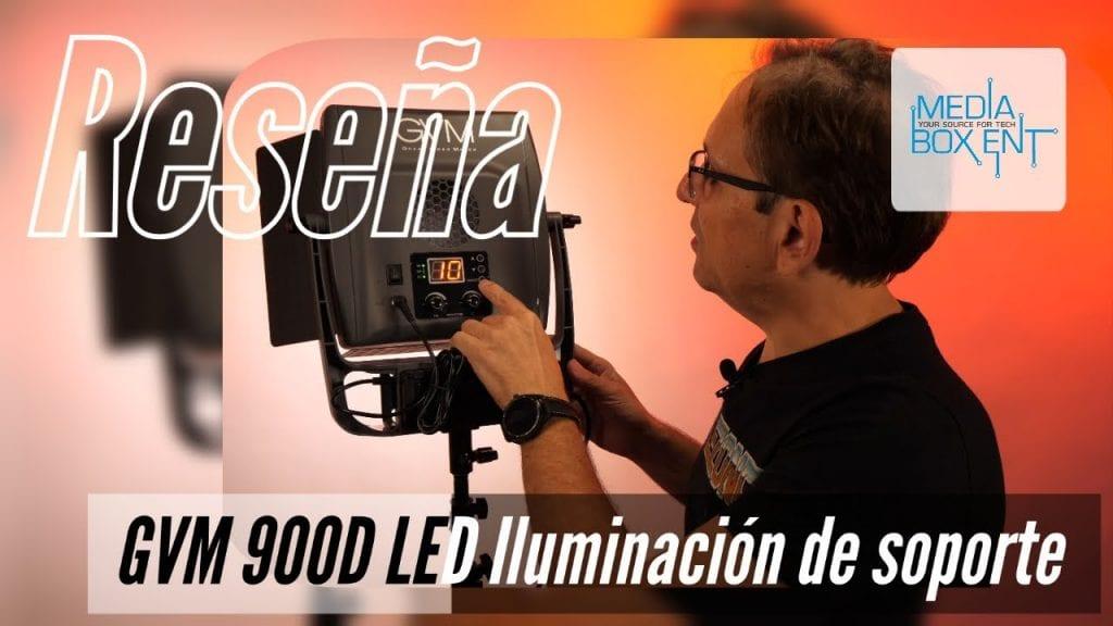 Kit de 2 luces GVM Bi-Color 900D LED  con paletas y trípodes.