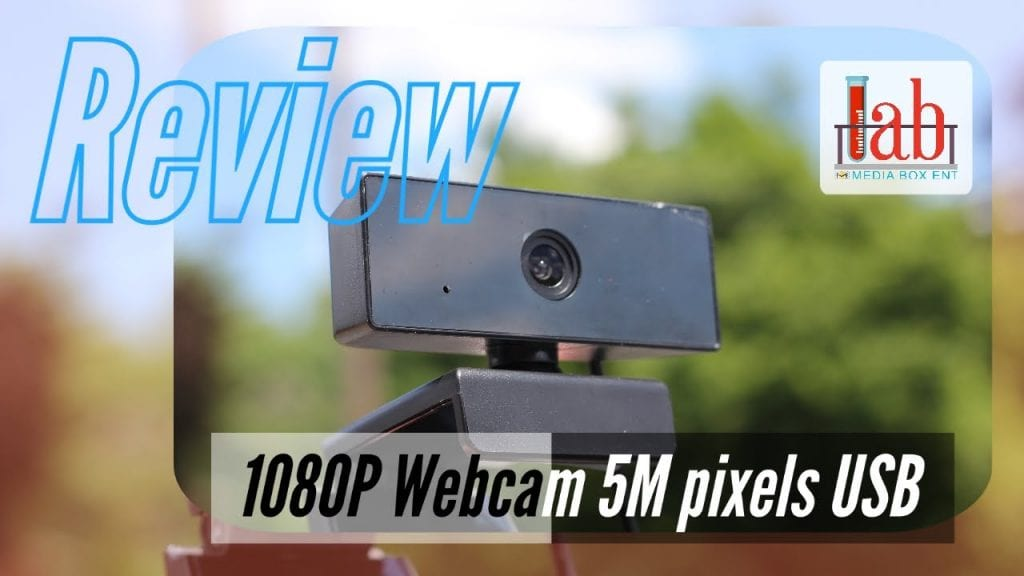 1080P Webcam with Microphone 5M pixels USB HD auto focus and light correction