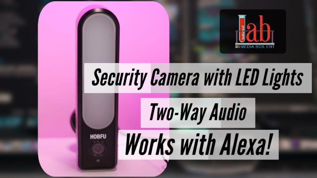 HD 1080P security camera with floodlight works with Alexa, WiFi camera