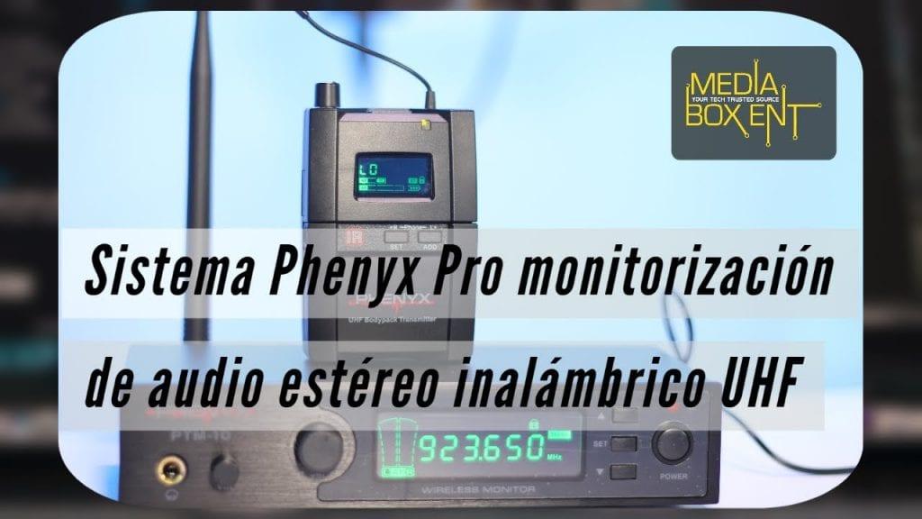 Tutorial: Sistema Phenyx Pro monitorización de audio estéreo inalámbrico UHF
