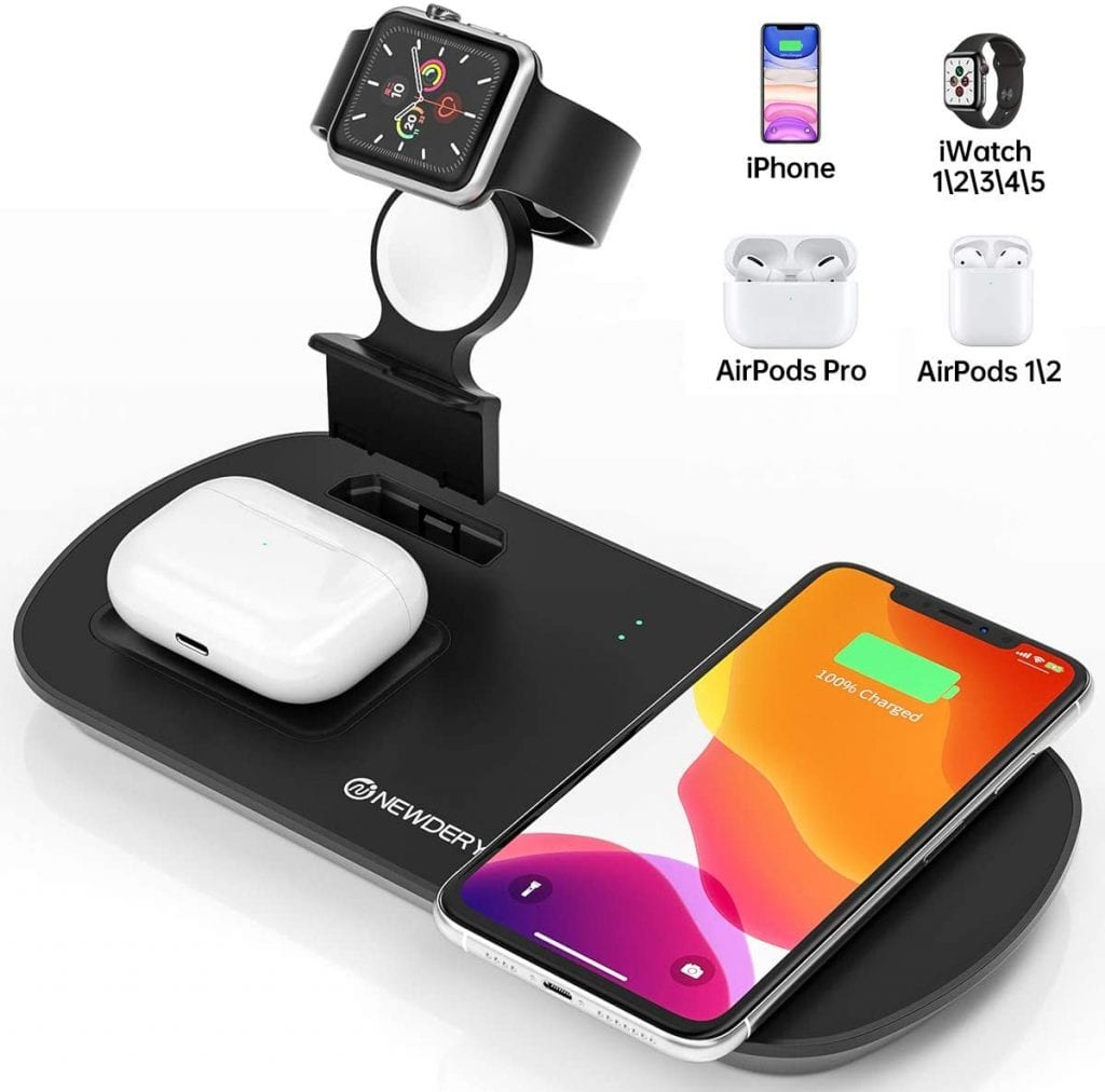 newdery 3 in 1 wireless charging stand
