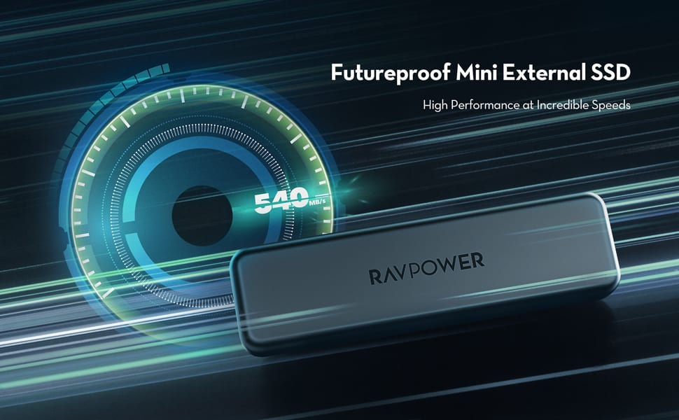 futureproof mini external SSD RAVPower header
