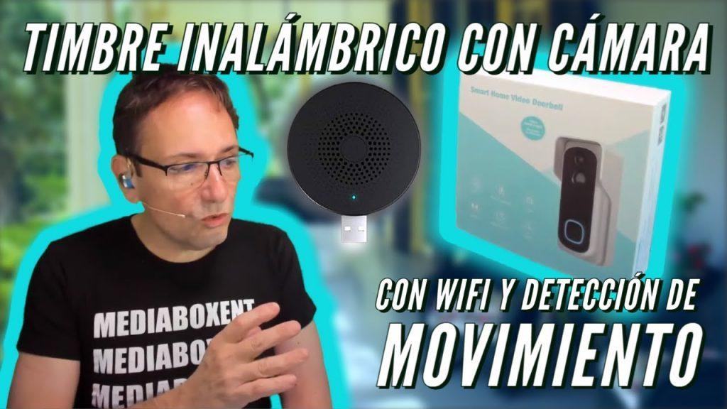 Como instalar timbre con cámara de vigilancia | conexión remota WiFi y detección de movimiento