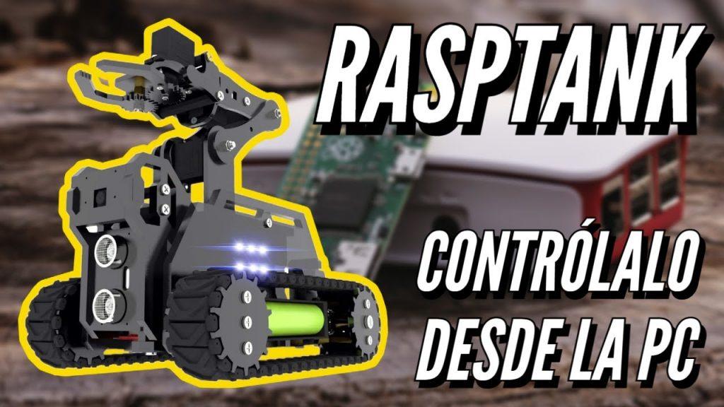 Robot RaspTank con brazo mecanico montable DIY con multiples funciones!
