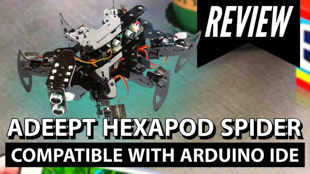 Adeept Hexapod Spider compatible with Arduino IDE | Unboxing
