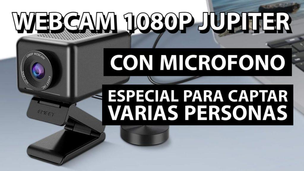 Webcam 1080P con micrófono y altavoz | Especial para conferencias | Reseña