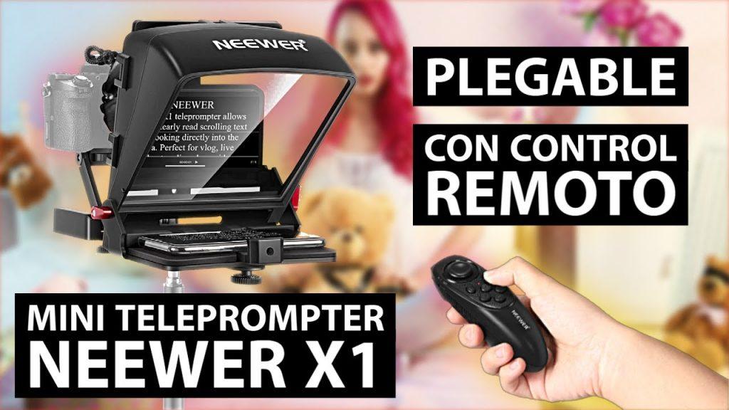 Teleprompter portatil NEEWER x1 Mini | Como hacer video más profesionales