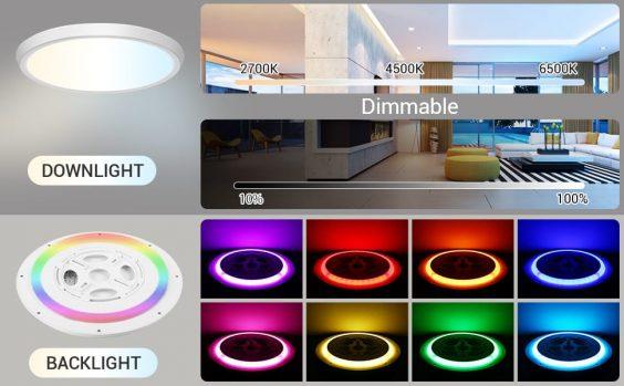 MikeWin Smart LED Ceiling Light Fixtures line 2