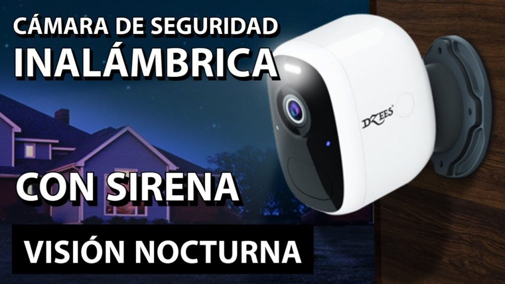 Cámara de seguridad con Wifi y visión nocturna | 5 meses de batería recargable