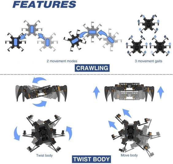 Freenove-Hexapod-Robot-Kit-with-Remote-features