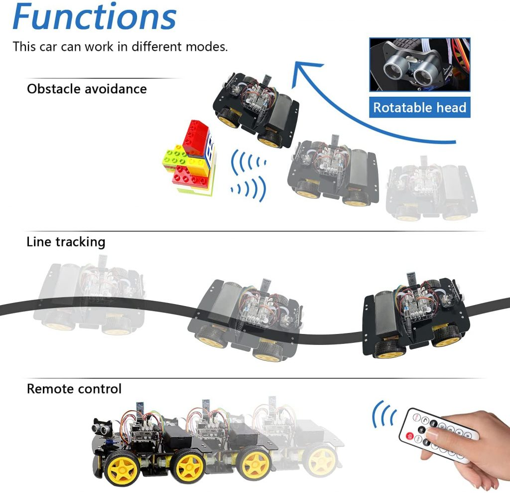 FREENOVE-4WD-Car-Kit-with-RF-Remote-functions