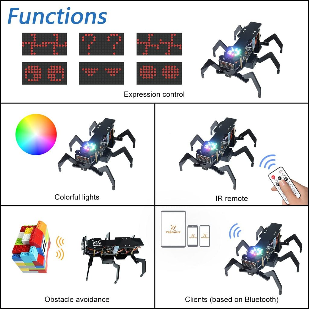 Freenove-Robot-Ant-Kit-funtions