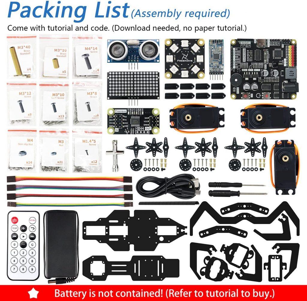 Freenove-Robot-Ant-Kit-kit-list