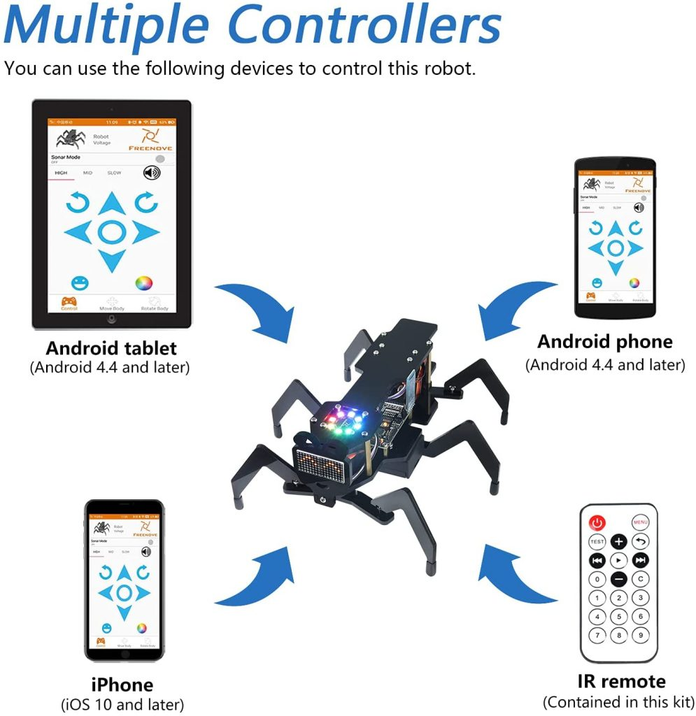 Freenove-Robot-Ant-Kit-multiple-controllers